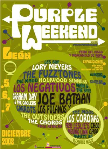 Ya tenemos cartel del Purple Weekend 2008