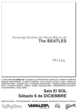 Fiesta Aniversario 40 años del Album Blanco en la Sala Sol