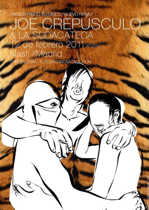 Sábado 12, concierto de Joe Crepúsculo y Sudacateca en el Nasti