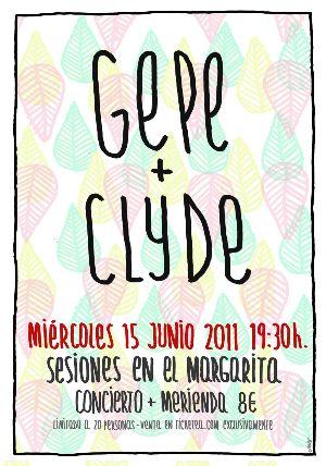 Agenda: mañana miércoles Gepe + Clyde en el Estudio Margarita