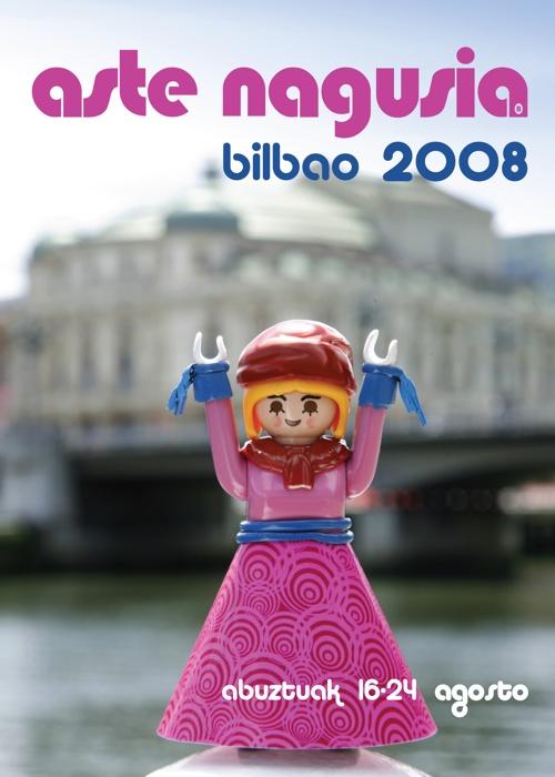 Cartel de Conciertos de Semana Grande (Aste Nagusia – Fiestas de Bilbao) 2008