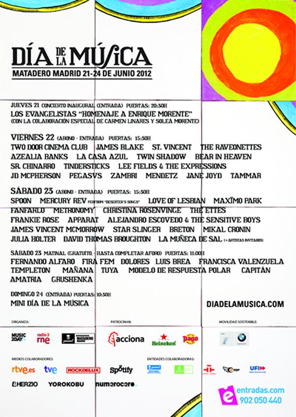 Horarios de El Día de la Música 2012