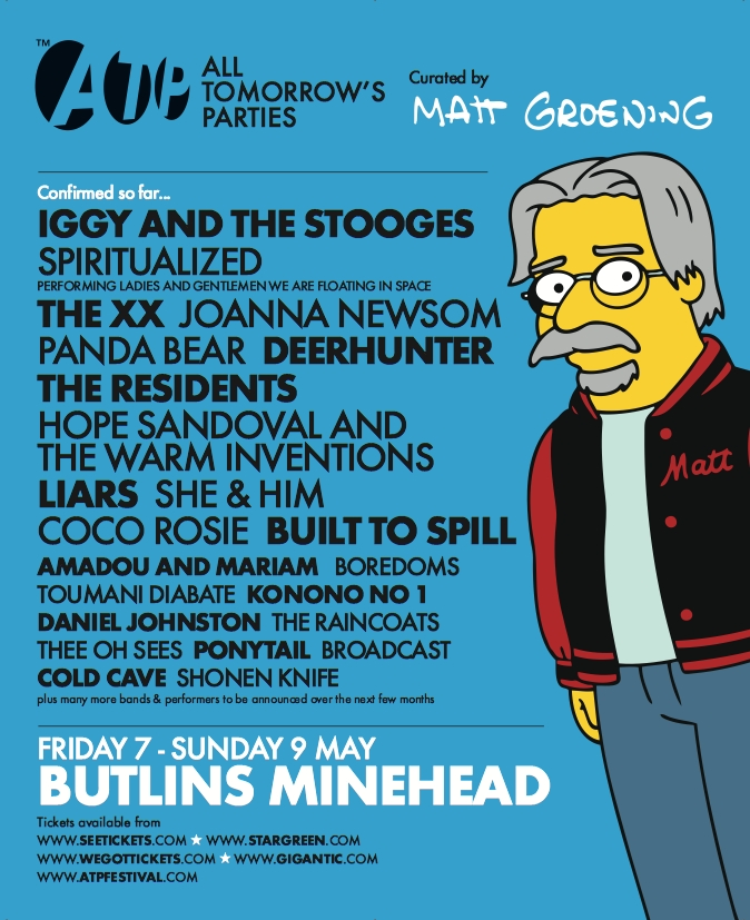 Matt Groening será comisario de una edición del All Tomorrow's Parties (ATP) 2010