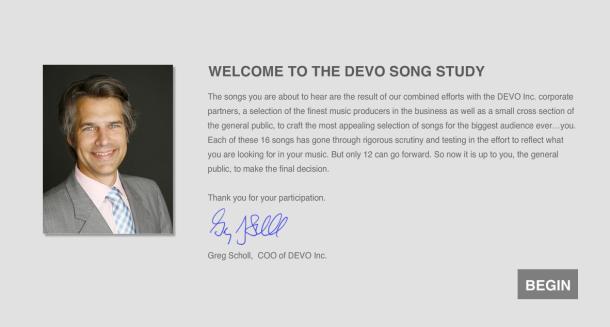 Elige las canciones del próximo disco de Devo