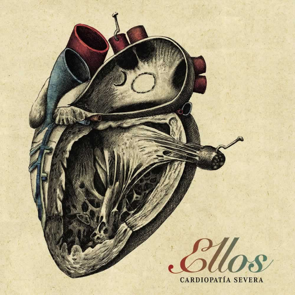 Preciosa portada para Cardiopatía Severa, el nuevo disco de @Ellos