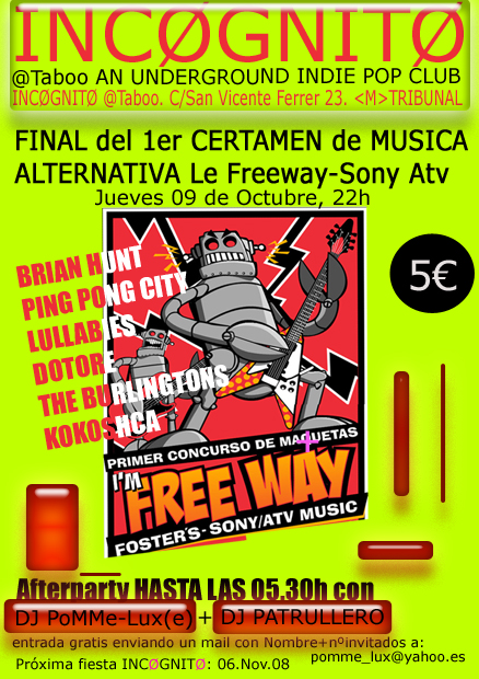 Final del 1er certamen de muscia Alternativa Le Freeway-Sony Atv