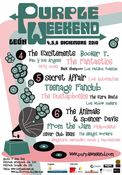 Cartel definitivo del Purple Weekend 2010