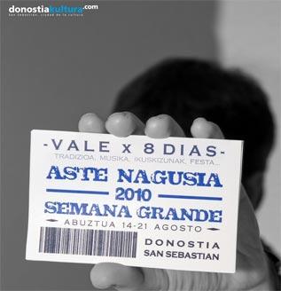 Cartel de conciertos de Fiestas/Semana Grande de Donosti/San Sebastián