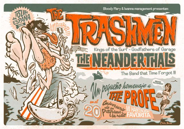The Neanderthals y The Trashmen, 18 de junio, sala Sol