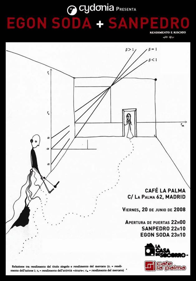 Concierto de Sanpedro y Egon Soda (Ricky Falkner de Standstill) en el Café La Palma