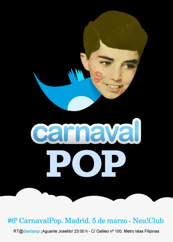 Sábado 5 de marzo, sexto Carnaval Pop en el Neu! de Madrid