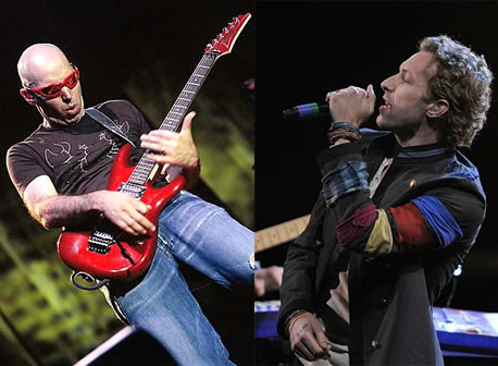 Joe Satriani vs. Chris Martin (Coldplay)