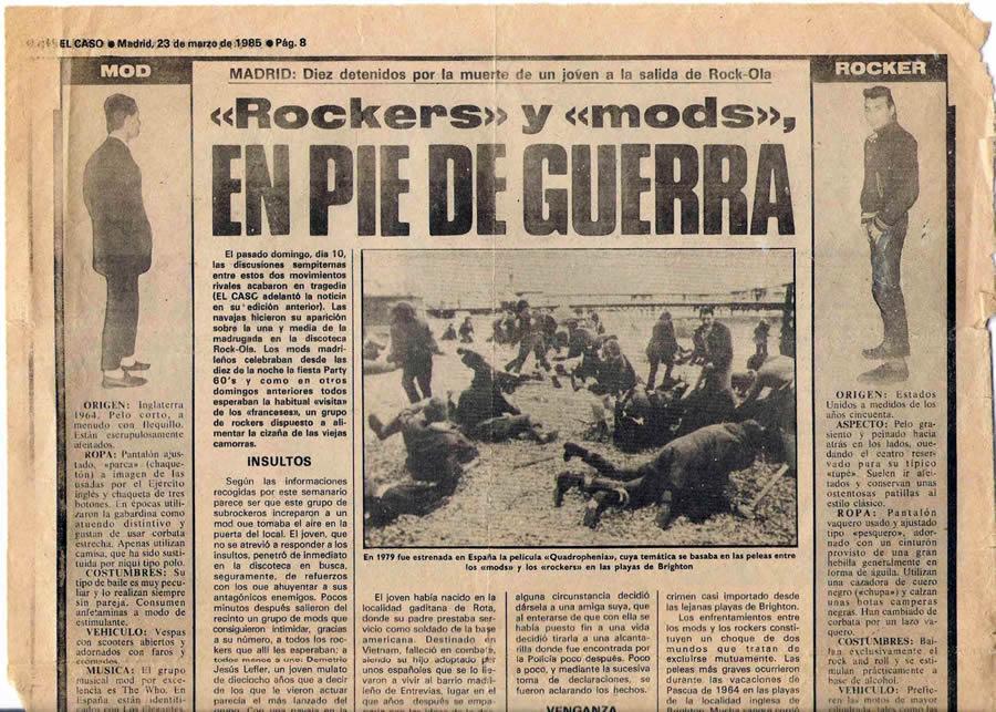 Rockers contra mods y el 25 aniversario del Rock-Ola