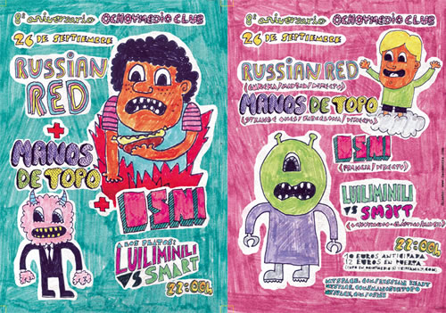 8 Aniversario del Ocho-y-medio: Russian Red, Manos de Topo y Osni en directo