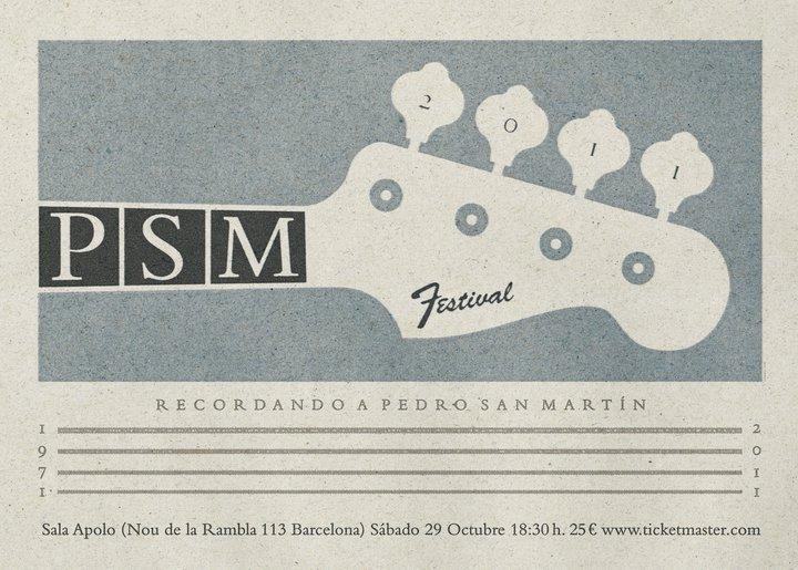 Cartel definitivo del Pedro San Martín (PSM) Festival y sorteamos una entrada