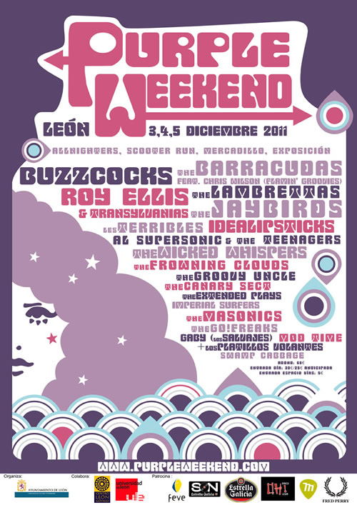 Purple Weekend 2011: cartel (azo) definitivo y distribución por días