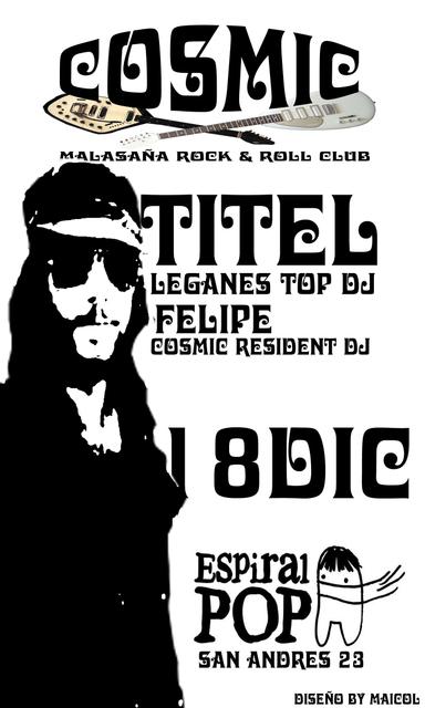 Titel en Cosmic Club este Jueves 18